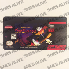 Maui Mallard Super Nintendo SNES Cartridge Replacement Game Label Sticker
