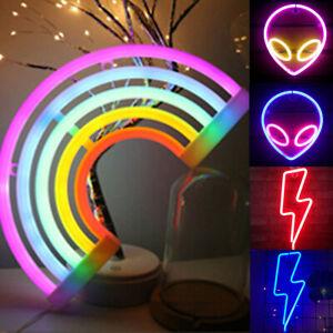 Neon Sign Light LED Wall Visual Art Bar Lamp Home Party Dorm Festival Room Decor