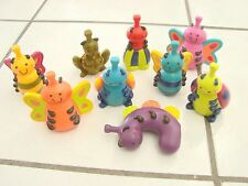 "9 Plastic Bugs Toddler toys Just B You 3.5"" squeezeable mantis Bee , colorful"