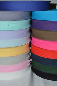 BIAS BINDING TAPE-Cotton-1''/ Sold per 1m, 5m , 10m , 20m, 30m, 40m & 50m