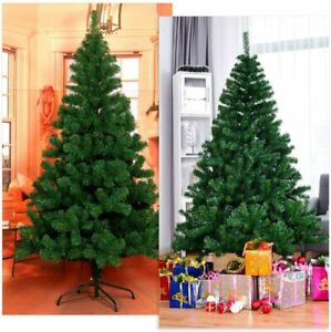 6FT Christmas Tree Artificial Holiday Faux-Pine Xmas PVC Trees Home W/ Stand