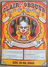 Filmplakat Festival Clair Obscur 2003, Hippie-Style mit Joker-Maske