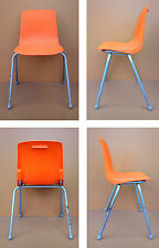 Chaise enfant GROSFILLEX vintage orange ancienne déco chambre children chair