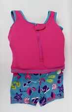 SwimSchool Girls Life Vest with Attached Shorts Pink Size Medium/Large