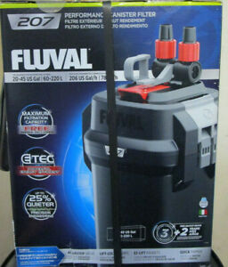 Fluval 207 Performace Canister Filter 20-45Gal 60-220L