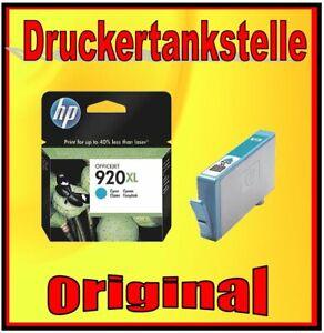 HP 920XL cyan ORIGINAL DRUCKERPATRONE OFFICEJET 6000 SE6500A 7000 7500A W PRO