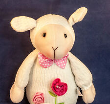White Sitting Easter Lamb Big Soft Fluffy Figurine Cute and Adorable New