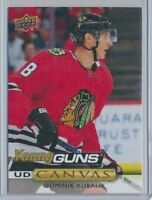 2019-20 Upper Deck Series 1 Canvas Young Guns C113 Dominik Kubalik Blackhawks