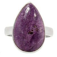 Purpurite - South Africa 925 Sterling Silver Ring Jewelry s.6.5 BR15779 XGB