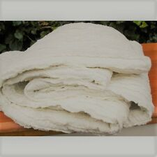 Shabby Chic Ruffle Bed Runner / Bed Scarf + Cushion Cover Off White