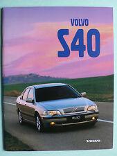 Prospekt Volvo S40, 1998, 40 Seiten