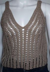 100% Hand crochet top halter bikini top summer