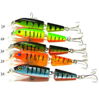 5pcs 10.5cm Multi-jointed Minnow Fishing Lures Bait Swimbait CrankBait Tackle