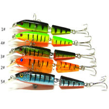 5pcs Multi-jointed Minnow Fishing Lures Bait Swimbait CrankBait Tackle 10.5cm #