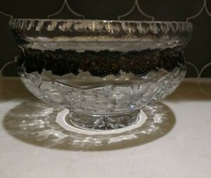 Julia authentic Crystal Bowl Poland with silver accent