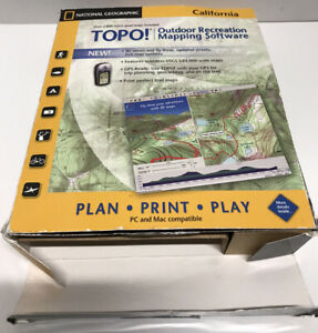 National Geographic TOPO! Outdoor Recreation Mapping Software,California,Nice