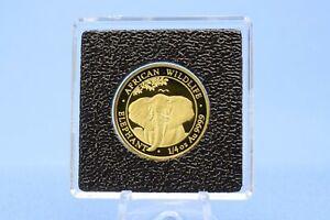 Somalia 200 Shillings 2021 Wildlife Elephant Elefant  *  1/4 oz.  999 Gold *