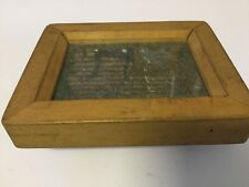 TIMBER VINTAGE ANTIQUE NEGATIVE PRESS / OLD PRINT PRESS - circa 1900 (aprox)