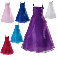 New Bridesmaid Flower Girls Pageant Dress with Shawl 2 Years to 13 Years