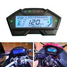 13000RPM LCD Digital Motorcycle Odometer Speedometer Tachometer Clock Waterproof