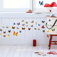 80PCS Removable Colorful Butterfly Wall Stickers Art Vinyl Decal Home DIY Decor