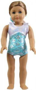 New Gymnastic Blue Splash Doll Leotard