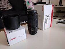 Canon EF 70-300mm F/4-5.6 IS USM Lens with hood and UV Filter