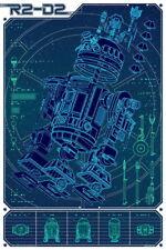 "041 Blueprint - Star Wars R2-D2 14""x21"" Poster"