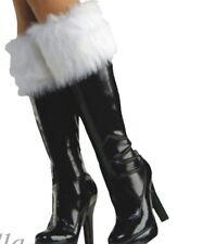 New Santa Claus Fur Xmas Boot Top Cuffs Christmas Fancy Dress White Shoe Covers