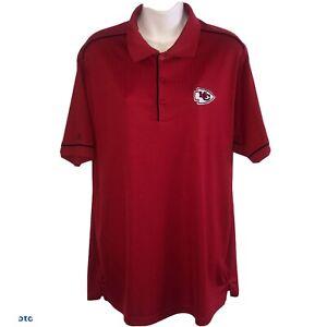 Antigua Mens Kansas City Chiefs Polo Shirt Red Large B9