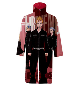 Anime Tokyo Revengers 3d Printed Long Robe Hoodie Cosplay Costume Party Outfits