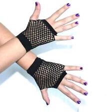 Black Fishnet net Short Gloves  Mesh Punk goth Rock 80s Style Fancy Dress