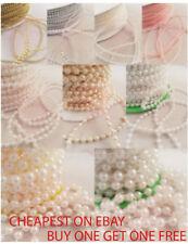 1m perlas de imitación en Cuerdas Blanco & Marfil Pastel Bodas Costura
