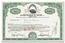 Inter World TV Films, Inc. Stock Certificate