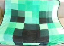 NEW Minecraft Creeper Video Game Plush Fleece Throw Gift Blanket Green XBox 360