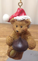 Christmas Ornament KSA Kurt S Adler Resin Teddy Bear Heart Chocolate Kiss Santa