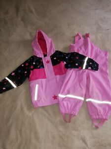 LUPILU girls splash, waterproof set, jacket + trousers, warm 12-24months, VGC!!!