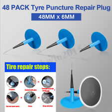 Car 24pcs Natural Rubber Tyre Puncture Repair Wired 45mm*6mm Plug Mushroom Patch