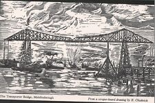 The Transporter Bridge Middlesbrough 1980's ? Large Format Postcard