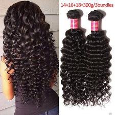 3 bundles Brazilian Deep Wave Curly Hair Unprocessed Virgin Human Hair Extension