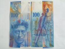 Billet banque SUISSE SWITZERLAND SWISS SCHWEIZ 100 Frs 2010 NEUF NEW UNC