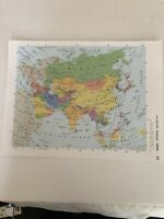 2002: Map Of Asia Political Original Print