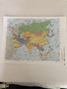 2002: Map Of Asia Political Original Print