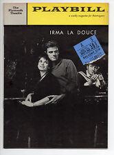 Irma La Douce Plymouth Theatre Playbill Aug 1960 Elliott Gould Fred Gwynne VG