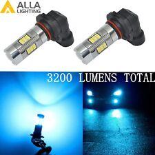 Alla Lighting 3200lm 8000K 27-LED 9006 Fog Light Driving Bulbs Lamps ICE Blue 2x
