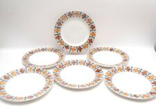 Set of 6 Starter Plates by Kathie Winkle for Broadhurst Pottery 'Mexico' Design