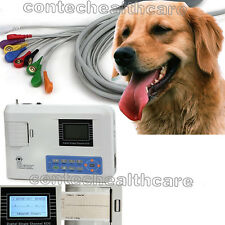 CE CONTEC VET Veterinary One Single Channel ECG/EKG Machine Electrocardio Animal