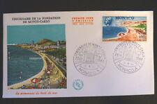 MONACO PREMIER JOUR FDC YVERT  694        LE BORD DE MER        0,60F       1966