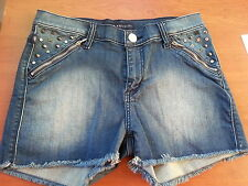 "Rock and Republic Jean Shorts ""Pixie"", Size 8 (28), Studded with Stars"