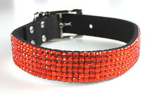 USA SELLER Puppy Dog Pet SOFT Collar 6 ROWS Rhinestone Crystal Diamond XS - XXL